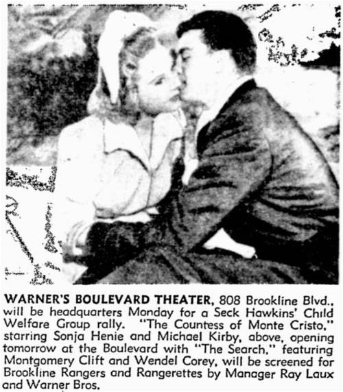 brookline boulevard movie theatres 1943 Movies with Ships 1948 pittsburgh press march 19 1949