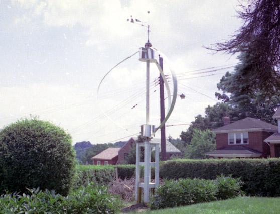 Backyard Wind Turbine On Berkshire Avenue In 1980.