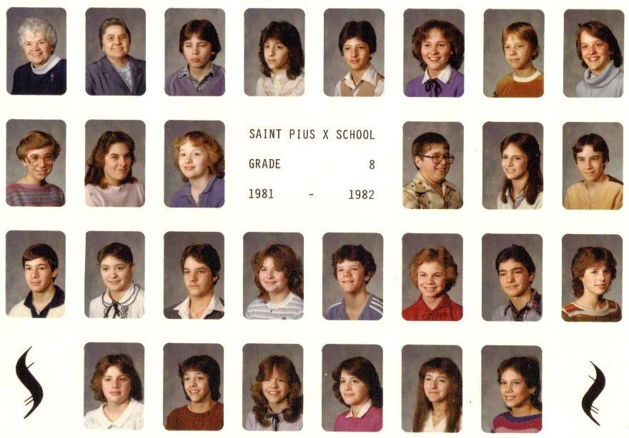 St Pius X Elementary 8th Grade Class 198182